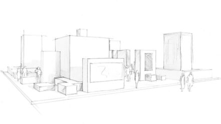 ontwerp voor de beursstand Cebeo - Technologie Brussel