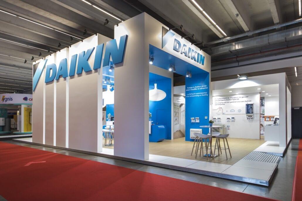 barruimte en verkoop ruimte van de Batibouw beursstand voor Daikin in Brussel