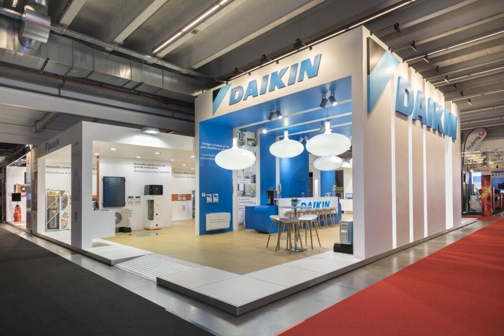 beursstand voor Daikin op Batibouw Brussel