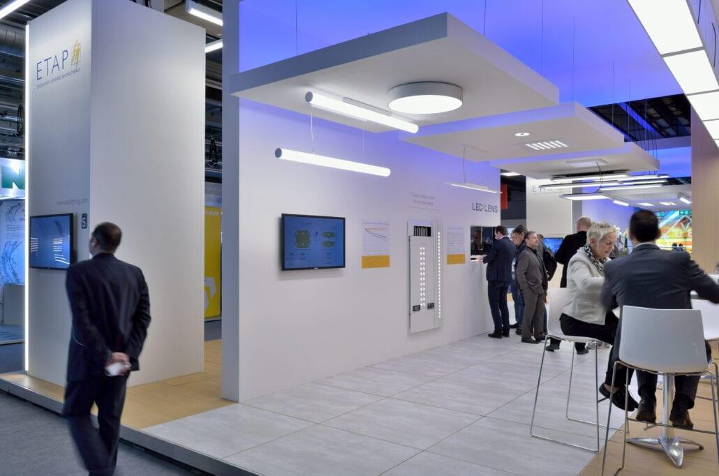 de beursstand voor Etap op de beurs Light&Building te Frankfurt