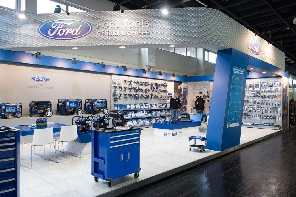 Ford Tools beursstand op Eisenwarenmesse te Keulen