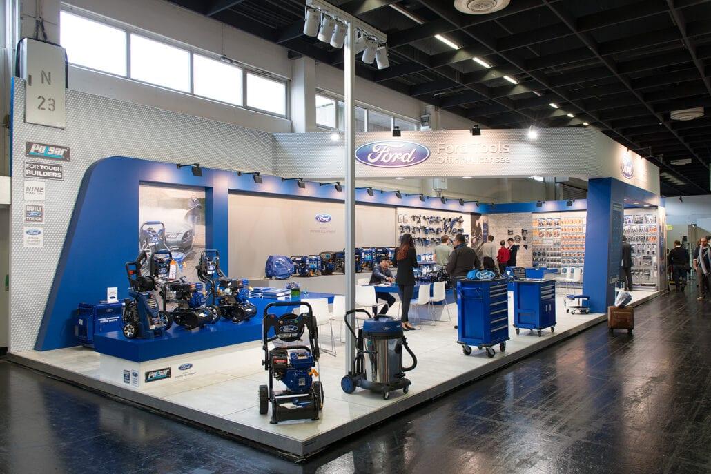 beursstand verhoogde vloer Ford Tools Eisenwarenmesse Keulen
