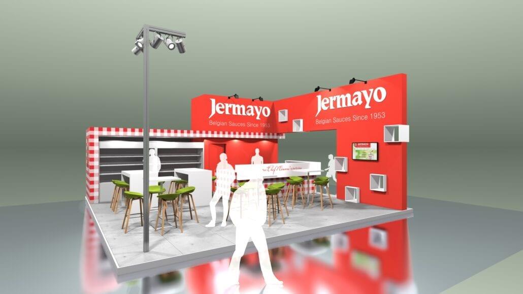 uniek ontwerp voor de beursstand Jermayo op de beurs Tavola