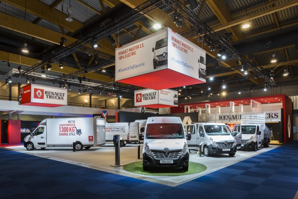 overzicht beursstand Renault Trucks Autosalon Brussel