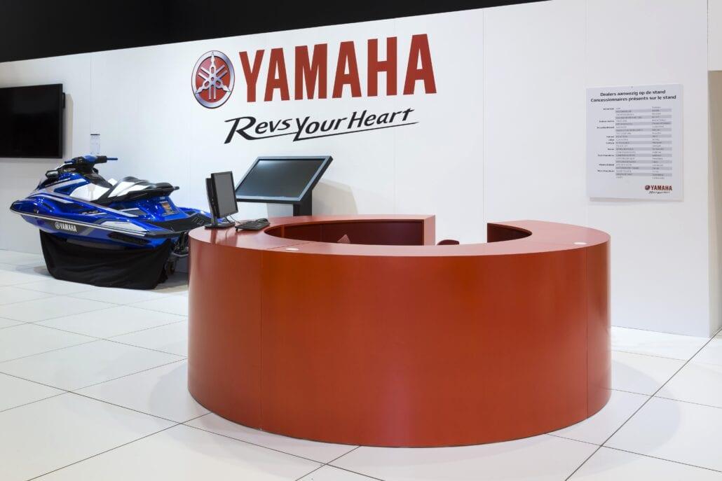 ronde infobalie beursstand yamaha Autosalon Brussel
