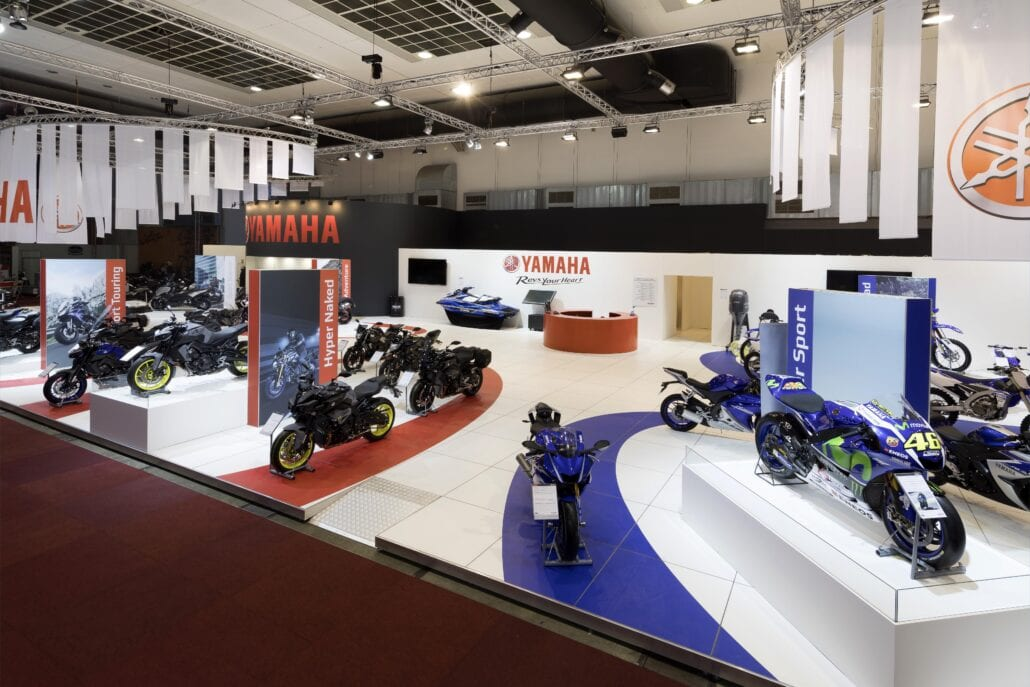 grote beursstand Yamaha Brussel