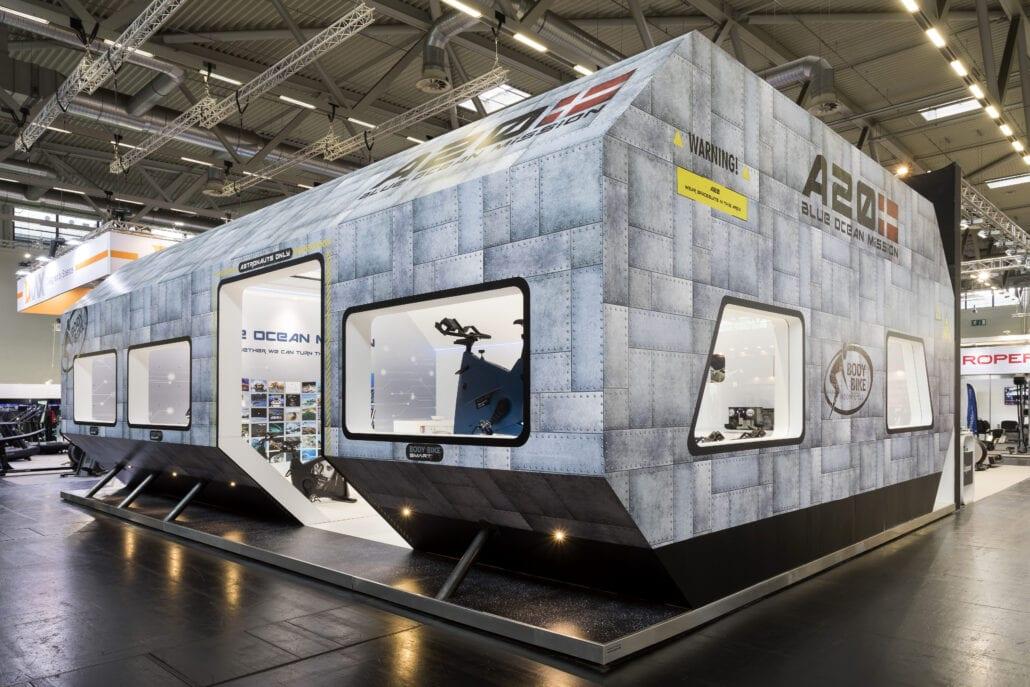 creatief en innovatief ontwerp beursstand Les Mills Fibo Keulen
