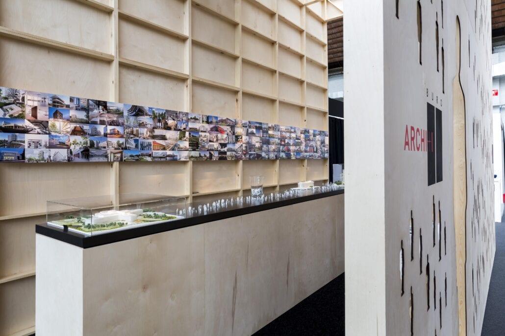 architecturale beursstand Brussel