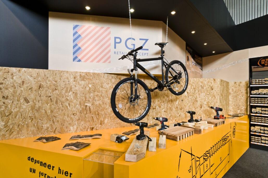 houten beursstand constructie voor PGZ
