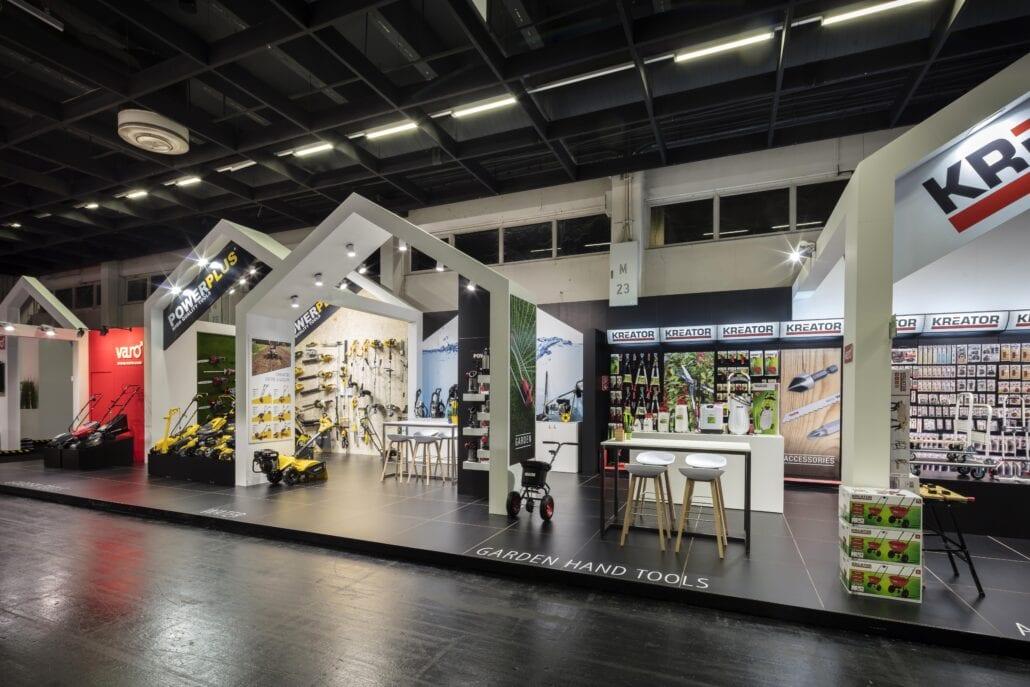 ontwerp beursstand ideeën concept huisje