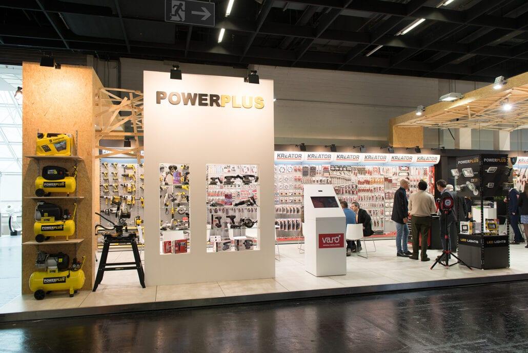 houtbouw beursstand constructie voor beursstand Powerplus