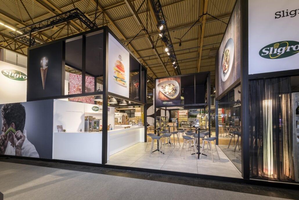 grote kookbalie op de stand van Sligro op horeca Expo te Gent