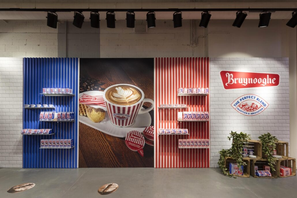 inrichting pop-up shop Bruynooghe koffie