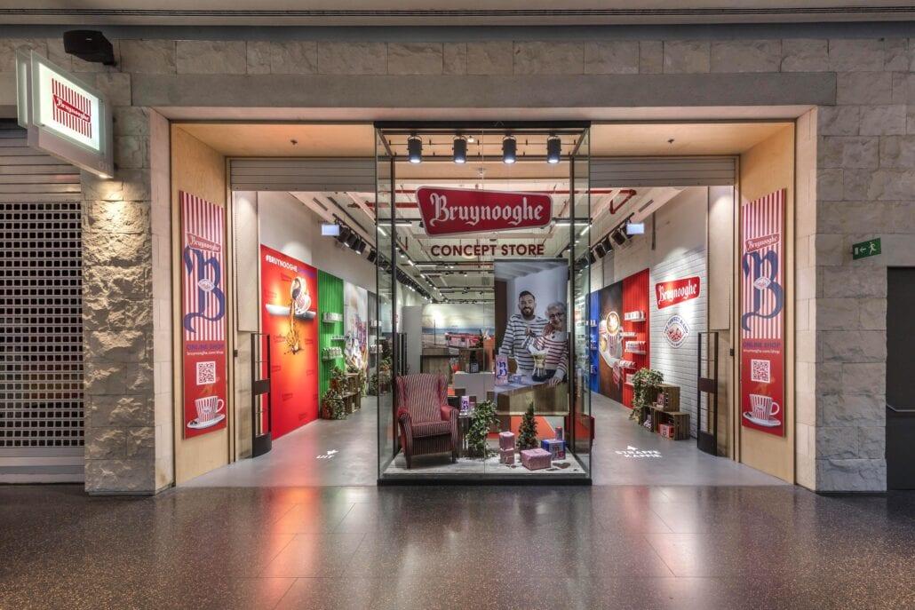 Bruynooghe pop-up shop inrichting en realisatie