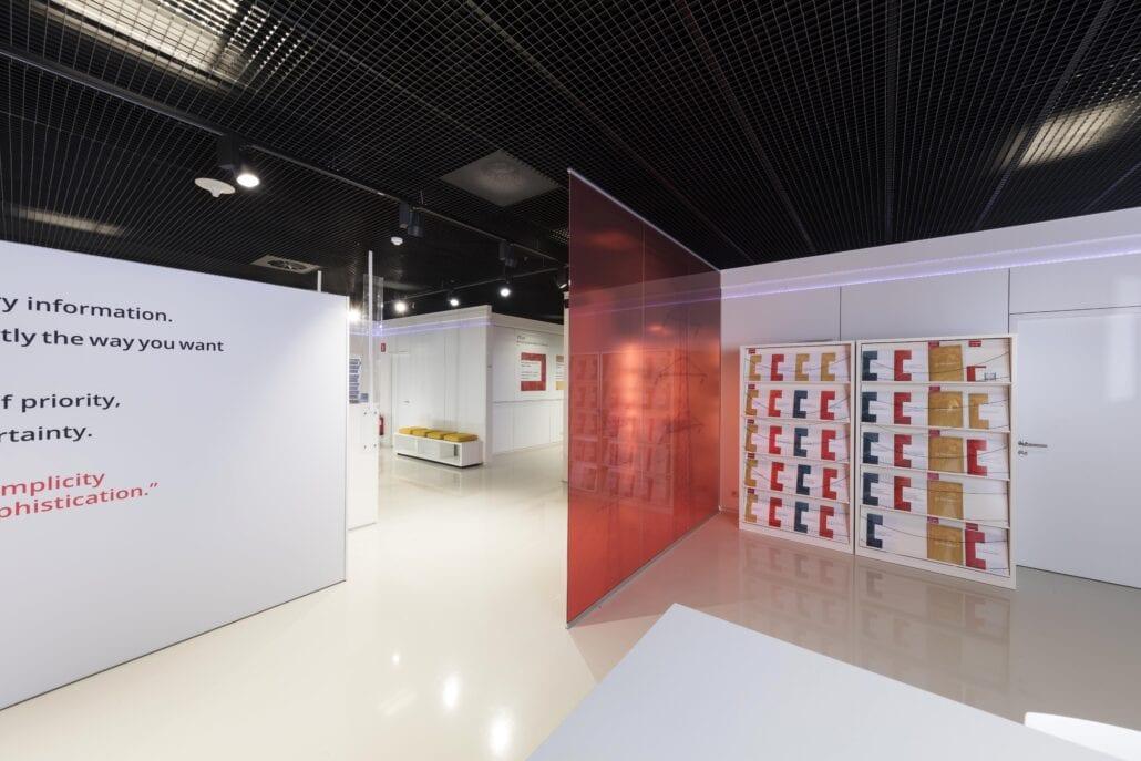 inteieurbouw showroom van OTN systems in Olen