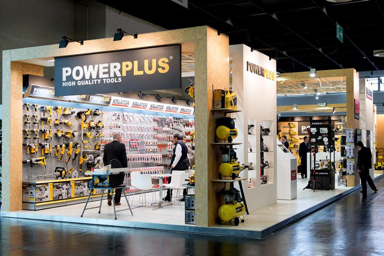Detail van de beursstand voor Powerplus