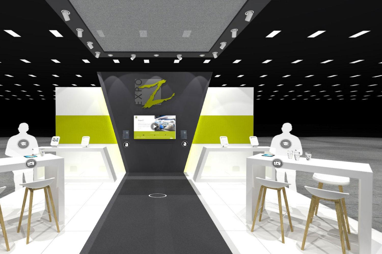 Een voorbeeld van een virtual beursstand bij Expo Z