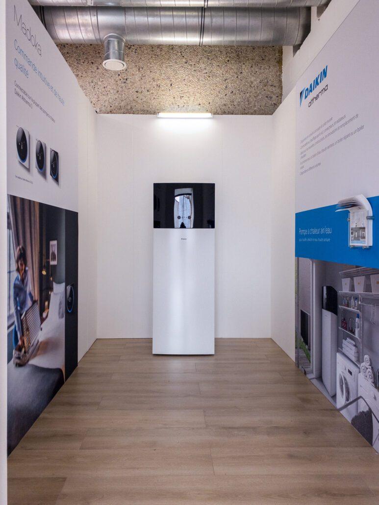 showroom Daikin technische ruimte